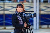 Japanese Female Student in Nara