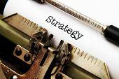 Strategy Text On Typewriter