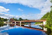 Hydroelectric Dam On The River Shuya. Village Ignoila, Karelia, Russia