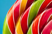 picture of lollipops  - macro of colorful lollipop candy backdrop - JPG