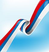 Russian Ribbon Flag On Background