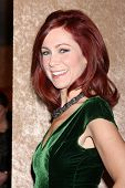 vLOS ANGELES - JAN 12:  Carrie Preston at the HBO 2014 Golden Globe Party  at Beverly Hilton Hotel o