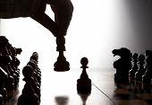 Man Makes A Move Chess Figure
