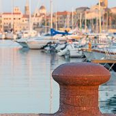 foto of bollard  - a rusty bollard in Alghero harbor - JPG