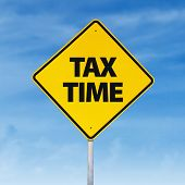 Tax Time Road Sign