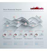 Vector 3D Paper Infographics