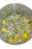 Elderflower lemon and water in a pot