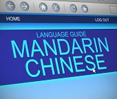 Mandarin Chinese Language Concept.