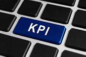 Kpi Or Key Performance Indicator Button On Keyboard