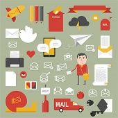 Mail set / flat style