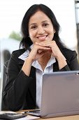 Young Business Woman Working At Office
