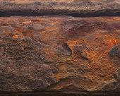 image of girder  - Old rusty weathered iron girder with flakes - JPG