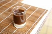Old Style Thai Coffee On A Bamboo Plate