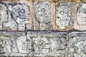 Wall of Skulls maya site of Chichen Itza, Yucatan, Mexico