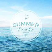 Summer Time Poster, Vector Illustration