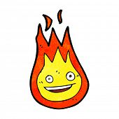pic of fireball  - cartoon friendly fireball - JPG