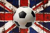 Great Britain Flag Painted On Wood With Ball