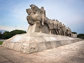 stock photo of bandeiras  - The iconic Bandeiras Monument - JPG