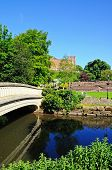 River Anker and castle, Tamworth.