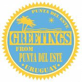 Greetings From Punta Del Este-label