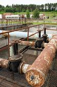 Rusty Big Taps And Pipes. Water Treatment Plant
