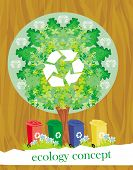 pic of segregation  - ecology card design segregation of garbage  - JPG