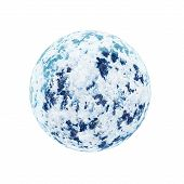 Realistic Blue Planet Isolated On White Background.