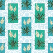 Seamless floral background, Yucca flowers