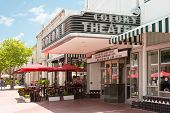 MIAMI,USA - MAY 20,2014 : The famous Colony Theatre at the  Lincoln Road Boulevard in Miami Beach