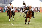 JERSEY CITY, NJ-MAY 31: Hilario Figueras (R) in action during the polo match at the 7th Annual Veuve