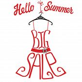 Silhouette Of Dress  From Words Big Sale.hello Summer
