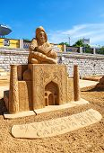 Samara, Russia - June 7, 2014: Beautiful Sculpture Made From The Sand During Sand Sculpture Festival
