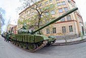 Samara, Russia - May 6, 2014: Main Battle Tank T-72