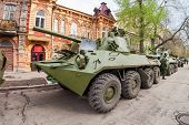Samara, Russia - May 6, 2014: 2S23 Nona-svk 120Mm Self-propelled Mortar Carrier On Wheeled Chassis O