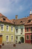 Colorful Houses At The Central Square In Sighisoara