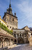 The Clock Tower Of The Citadel In Sighisoara