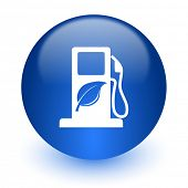 biofuel computer icon on white background