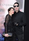 LOS ANGELES - APR 10:  Marilyn Manson arrives to the 'Transcendence' Los Angeles Premiere  on April