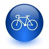bicycle computer icon on white background