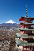 Chureito pagoda and mountain fuji