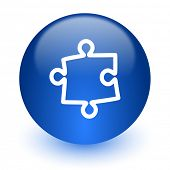 puzzle computer icon on white background