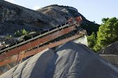 picture of sand gravel  - gravel pit operation that produces sand and gravel for construction - JPG