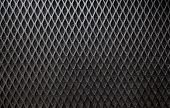 Metal grid background.
