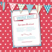 Invite And Bunting Background