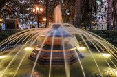 Historical Fountain In The Park Cartagena De Indias, Colombia. South America.