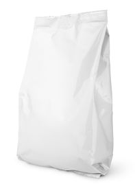 picture of packages  - Blank Snack bag package isolated on white with clipping path - JPG