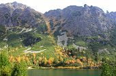 Popradske pleso - tarn in High Tatras,Slovakia