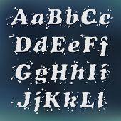 Milk Splash Font. Set Vol.1 A-l