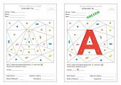 Worksheet: Fill Colour & Identify Alphabet