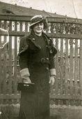 GERMANY, CIRCA 1930:  Vintage photo of woman in elegant hat